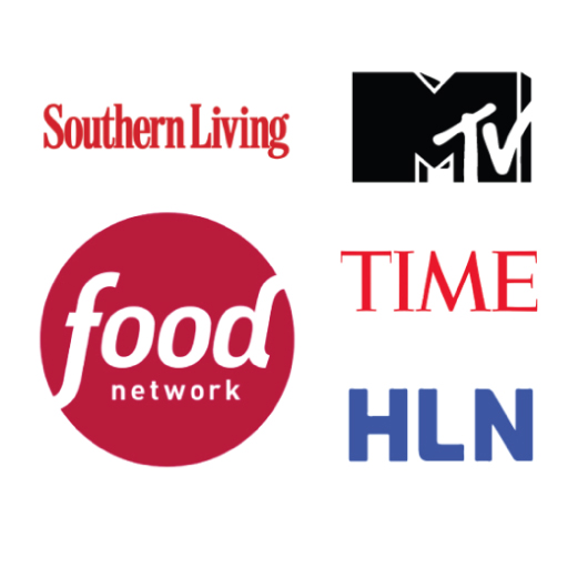 Southern Living, MTV, Time, Food Network, HLN logos